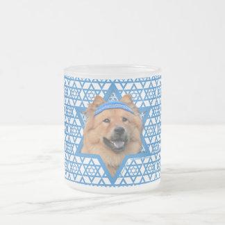 Hanukkah Star of David - Chow Chow Frosted Glass Coffee Mug