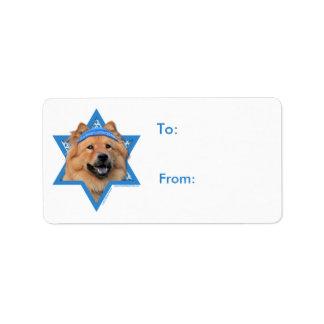 Hanukkah Star of David - Chow Chow Label