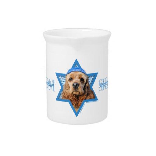 Hanukkah Star of David - Cocker Spaniel Drink Pitchers