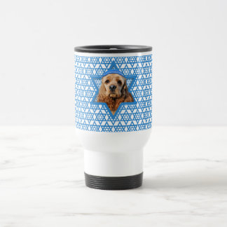 Hanukkah Star of David - Cocker Spaniel Travel Mug