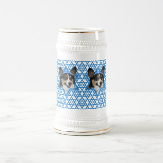 Hanukkah Star of David - Corgi Beer Stein