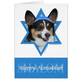 Hanukkah Star of David - Corgi Stationery Note Card