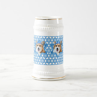Hanukkah Star of David - Corgi - Owen Beer Stein