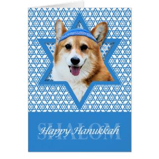 Hanukkah Star of David - Corgi - Owen Stationery Note Card