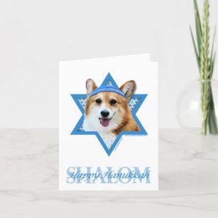 Hanukkah Star of David - Corgi - Owen Holiday Card