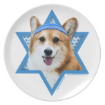 Hanukkah Star of David - Corgi - Owen Plate
