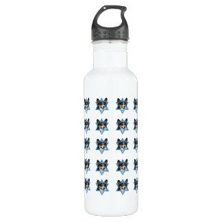 Hanukkah Star of David - Corgi 24oz Water Bottle