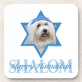 Hanukkah Star of David - Coton de Tulear Coasters