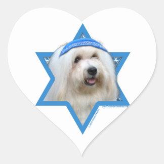 Hanukkah Star of David - Coton de Tulear Heart Sticker
