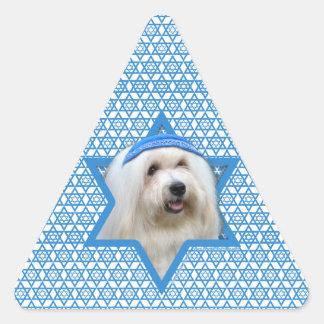 Hanukkah Star of David - Coton de Tulear Triangle Sticker