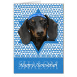 Hanukkah Star of David - Dachshund - Winston Greeting Cards