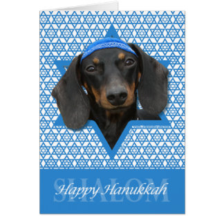 Hanukkah Star of David - Dachshund - Winston Card