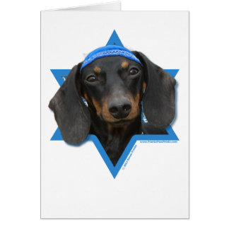 Hanukkah Star of David - Dachshund - Winston Card