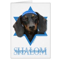 Hanukkah Star Of David - Dachshund - Winston Card at Zazzle