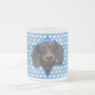 Hanukkah Star of David - Dachshund - Winston Frosted Glass Coffee Mug