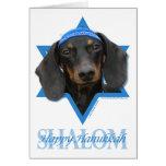 Hanukkah Star of David - Dachshund - Winston Greeting Card