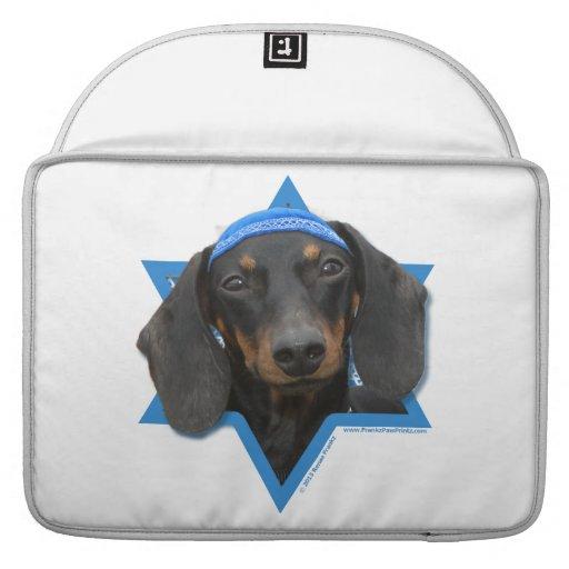 Hanukkah Star of David - Dachshund - Winston MacBook Pro Sleeve