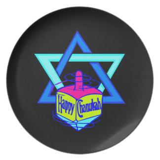 Hanukkah Star of David Dinner Plate
