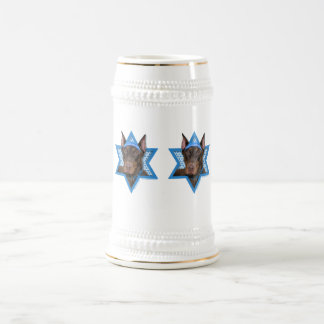 Hanukkah Star of David - Doberman - Rocky Beer Stein