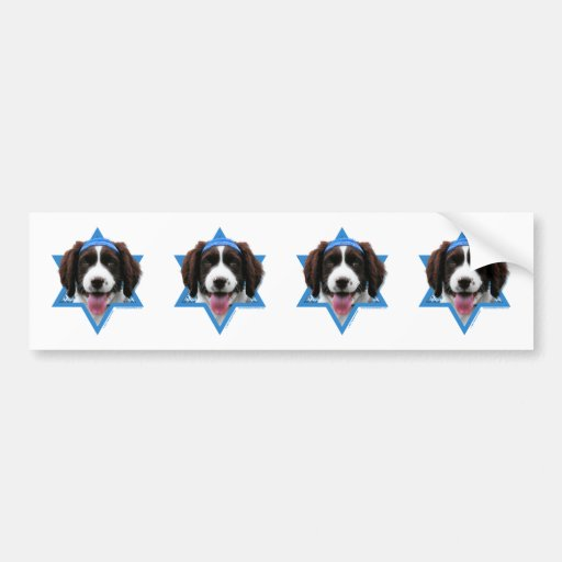 Hanukkah Star of David - English Springer Spaniel Bumper Stickers