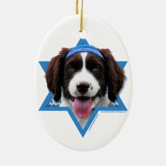 Hanukkah Star of David - English Springer Spaniel Ceramic Ornament