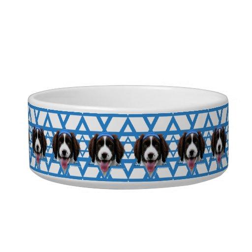 Hanukkah Star of David - English Springer Spaniel Cat Bowls