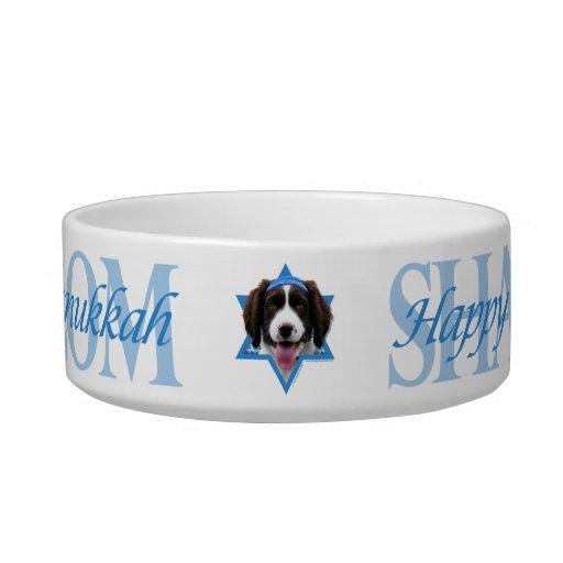 Hanukkah Star of David - English Springer Spaniel Cat Water Bowl