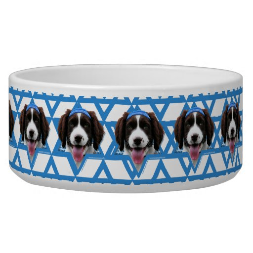 Hanukkah Star of David - English Springer Spaniel Dog Food Bowl