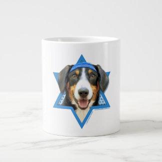 Hanukkah Star of David - Entlebucher Mountain Dog Large Coffee Mug