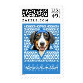 Hanukkah Star of David - Entlebucher Mountain Dog Postage Stamps