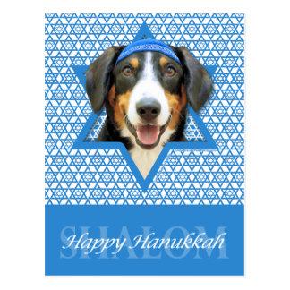 Hanukkah Star of David - Entlebucher Mountain Dog Postcard