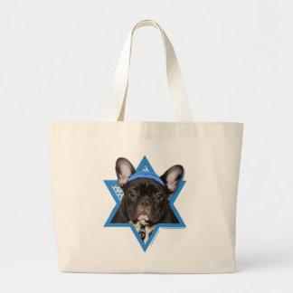 Hanukkah Star of David - French Bulldog - Teal Tote Bag