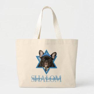 Hanukkah Star of David - French Bulldog - Teal Bag