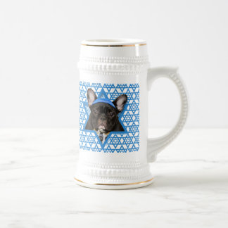 Hanukkah Star of David - French Bulldog - Teal Beer Stein