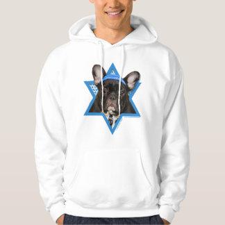 Hanukkah Star of David - French Bulldog - Teal Hoodie