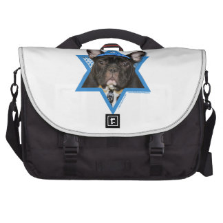 Hanukkah Star of David - French Bulldog - Teal Computer Bag