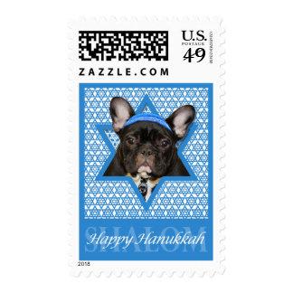 Hanukkah Star of David - French Bulldog - Teal Stamps