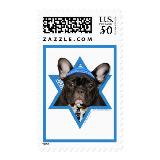 Hanukkah Star of David - French Bulldog - Teal Postage