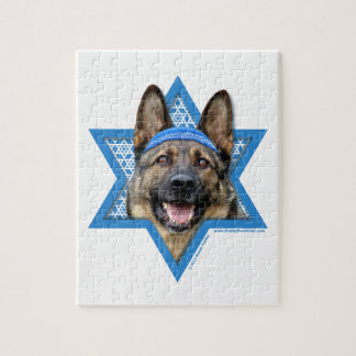 Hanukkah Star of David - German Shepherd Jigsaw Puzzle