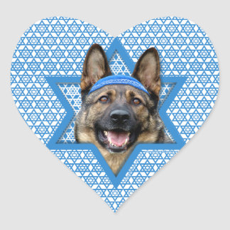 Hanukkah Star of David - German Shepherd Heart Sticker