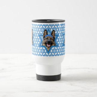 Hanukkah Star of David - German Shepherd Travel Mug