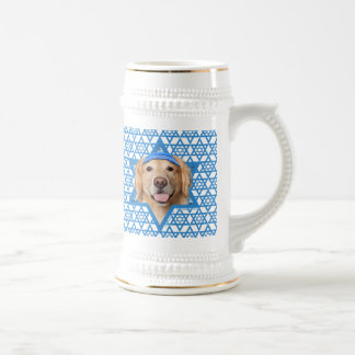 Hanukkah Star of David - Golden Retriever - Corona Beer Stein