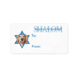 Hanukkah Star of David - Golden Retriever - Corona Label