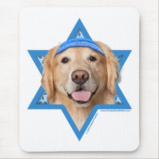 Hanukkah Star of David - Golden Retriever - Corona Mouse Pad