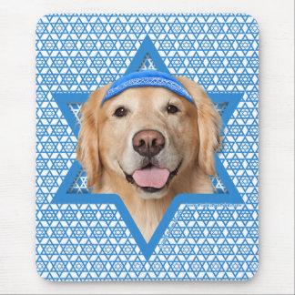 Hanukkah Star of David - Golden Retriever - Corona Mousepads