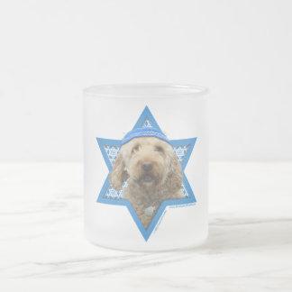 Hanukkah Star of David - GoldenDoodle 10 Oz Frosted Glass Coffee Mug