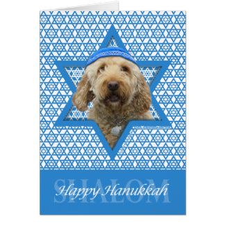 Hanukkah Star of David - GoldenDoodle Card
