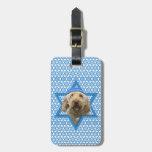 Hanukkah Star of David - GoldenDoodle Luggage Tag