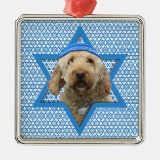 Hanukkah Star of David - GoldenDoodle Metal Ornament
