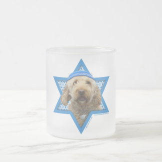 Hanukkah Star of David - GoldenDoodle 10 Oz Frosted Glass Coffee Mug
